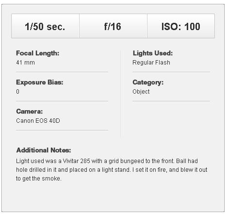 Параметры световой схемы