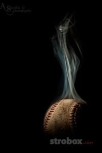 Как фотографировать дымящийся мяч
