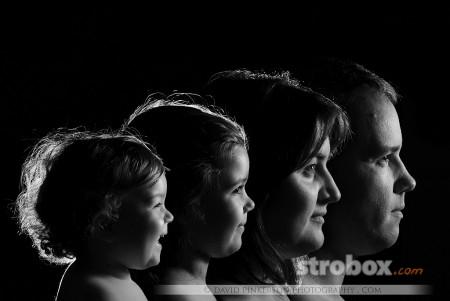 Как фотографировать семейный портрет - световая схема