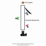 Световая схема - цветая труба