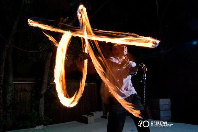 Световая схема фотографии с огнем