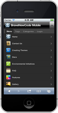 плагин WPtouch iPhone Theme