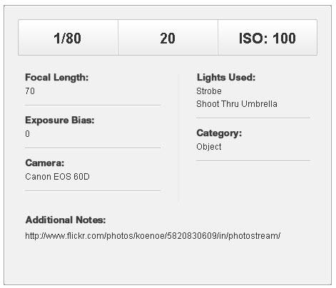 фотографируем объектив - световая схема