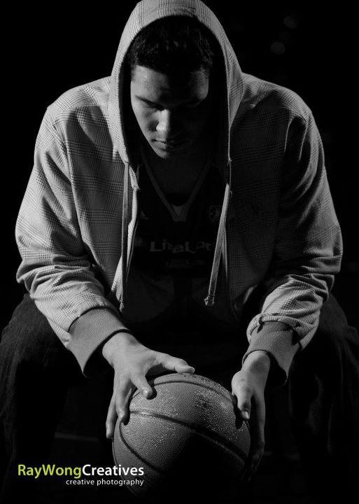 Спортивный портрет - световая