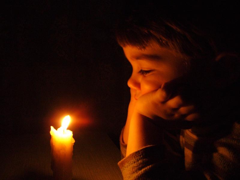 Фотопортрет со свечой