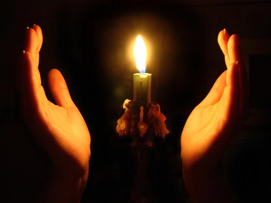 Фотография со свечой