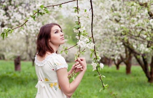 Цветущий сад - лучший вариант для весенней фотосессии