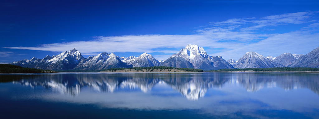 Панорамная фотография гор