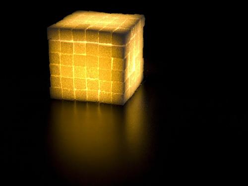 Необычный кубик с подсветкой