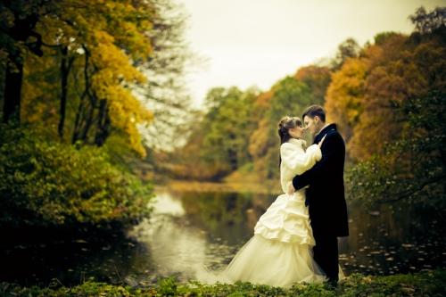 Свадебная фотосъемка осенью