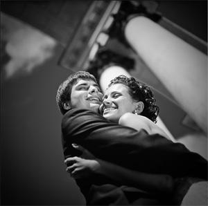 Свадебные фотографии в черно-белом варианте